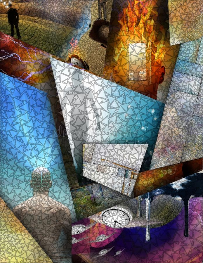 Multi Layered abstract. Composition. Human elements were created with 3D software and are not from any actual human likenesses stock images