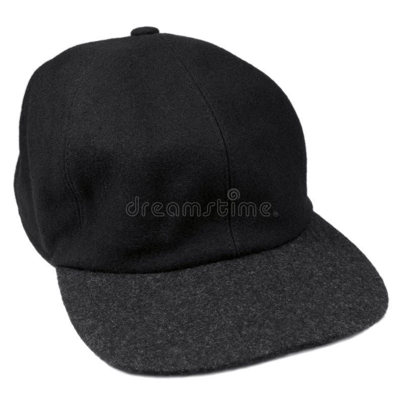 Multi le lane berretto da baseball nero uomini isolati grigi cappello fotografia stock