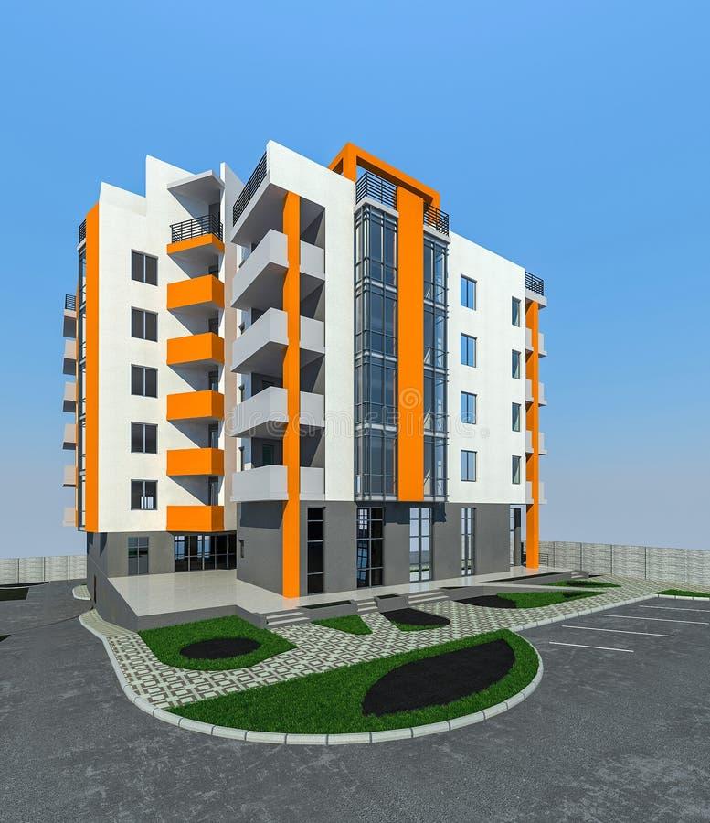 3d Design Using Home Designer Chief Architect Multi Level: Example Of Multi Level Gardening, 3D Render Stock Photo