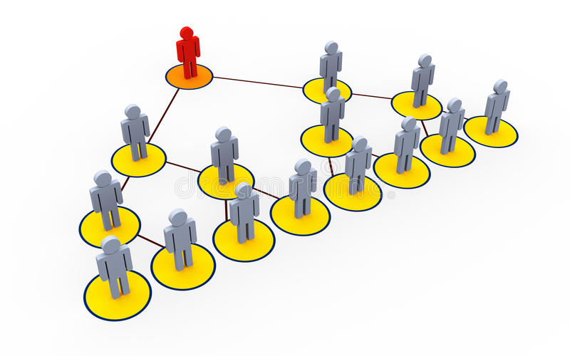 Multi level marketing stock illustration