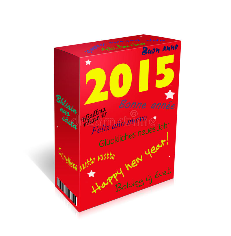 Multi lingual happy new year greetings box french spanish w download multi lingual happy new year greetings box french spanish w stock m4hsunfo Images