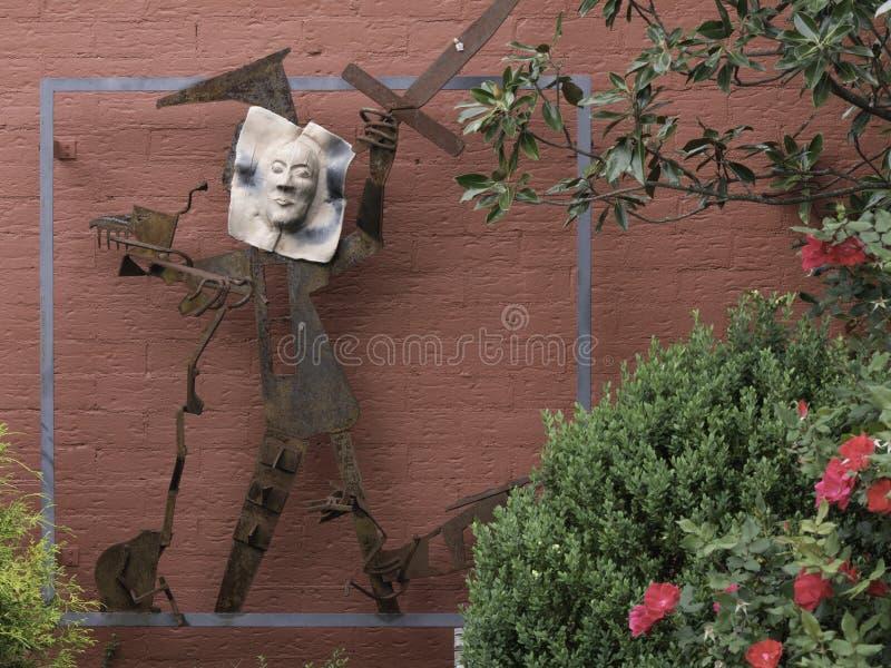 Multi media sculpture of a human figure royalty free stock photos