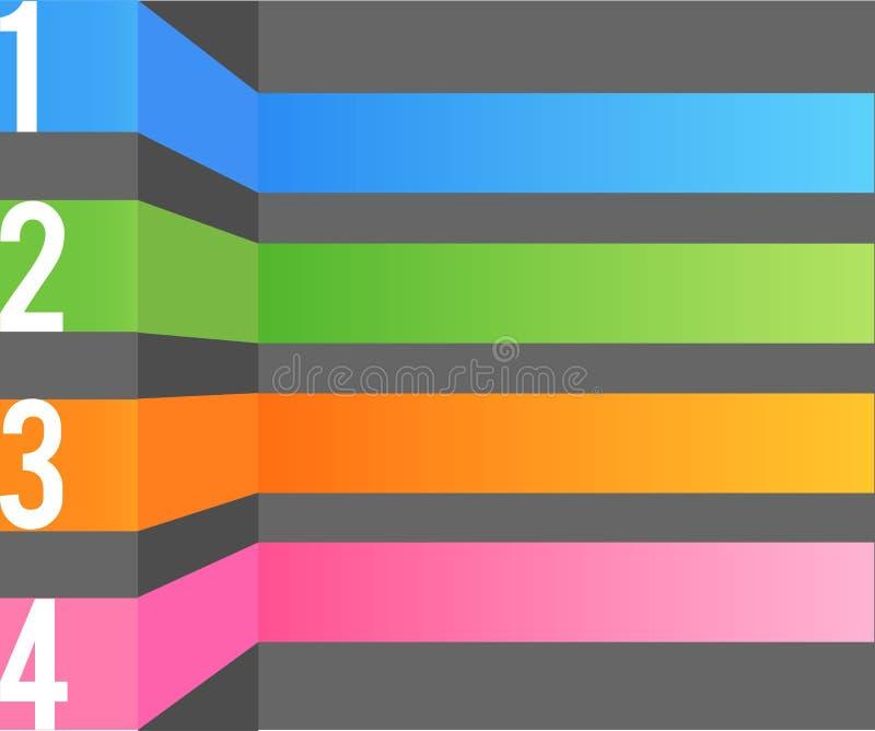 Multi modello di disegno di colore illustrazione di stock