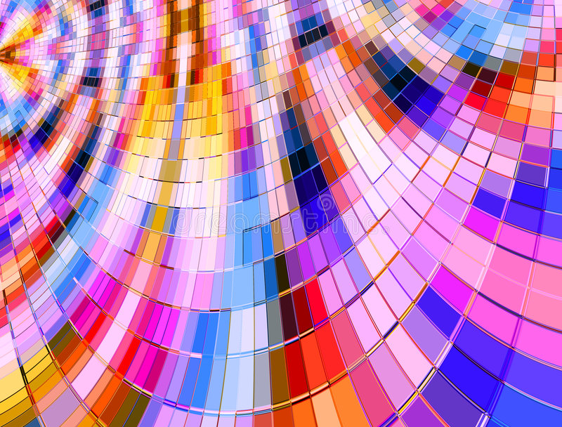 Multi mosaico deformato di colore illustrazione vettoriale