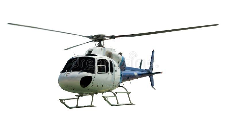 Multi-motorhelikopter met werkende propeller royalty-vrije stock afbeelding