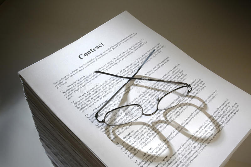 MultiPage Legal Contract Agreement Stock Photo  Image Of Contract