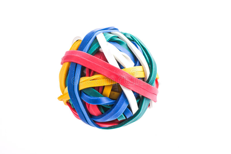 Multi palla dell'elastico di colore immagini stock libere da diritti