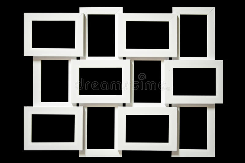 Multi picture frame. stock image