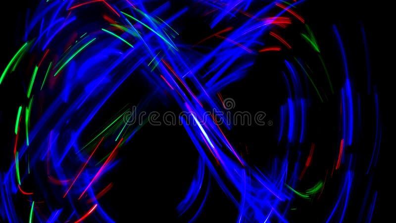 Multi pintura da luz da cor, fundo longo da exposição imagem de stock royalty free