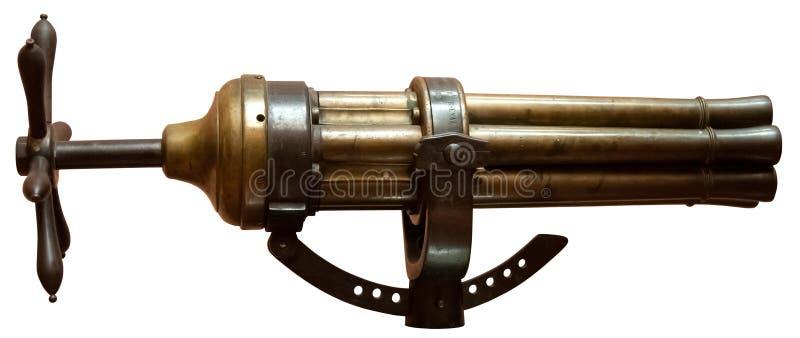 Multi pistola Barreled d'annata immagini stock