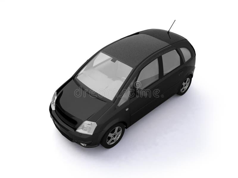 Multi-purpose Black Car Top View Stock Photos
