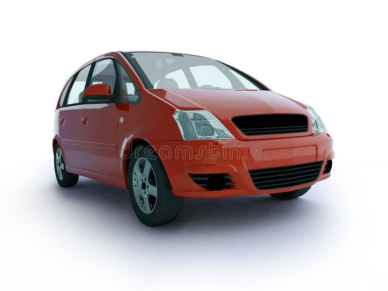 Download Multi-purpose red car stock illustration. Image of front - 10157453
