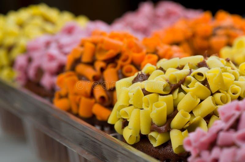 Multi queques coloridos fotografia de stock