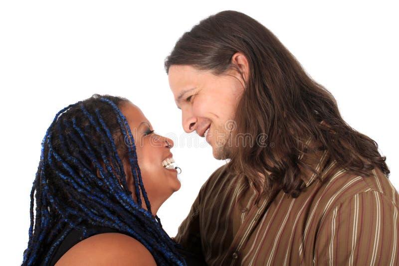 Multi race couple stock image
