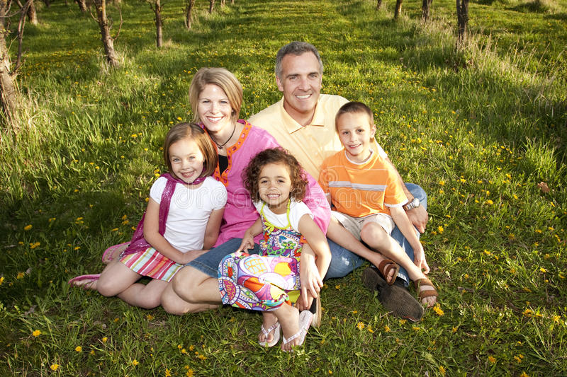 Multi-racial Family royalty free stock photography