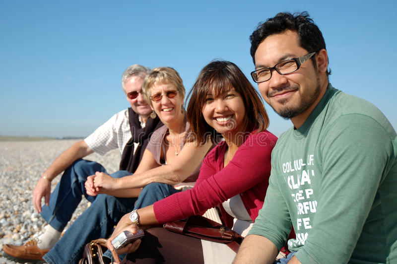 Download Multi racial friends. stock photo. Image of friends, couples - 9507944