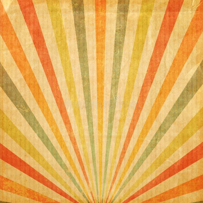 Multi raggio del sol levante o del sole di colore del fondo d'annata fotografia stock