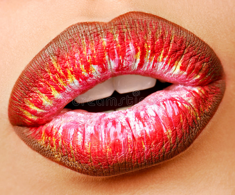 Multi rossetto colorato. Fine fotografie stock