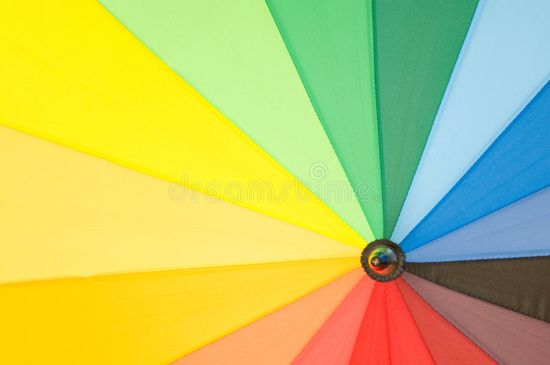 Multi Sector Colourful Umbrella Royalty Free Stock Photography