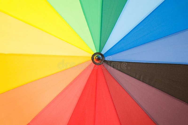 Download Multi Sector Colourful Umbrella Royalty Free Stock Photography - Image: 7368677