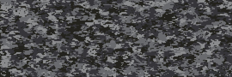 Multi Skalamuster Digital-Tarnung stock abbildung