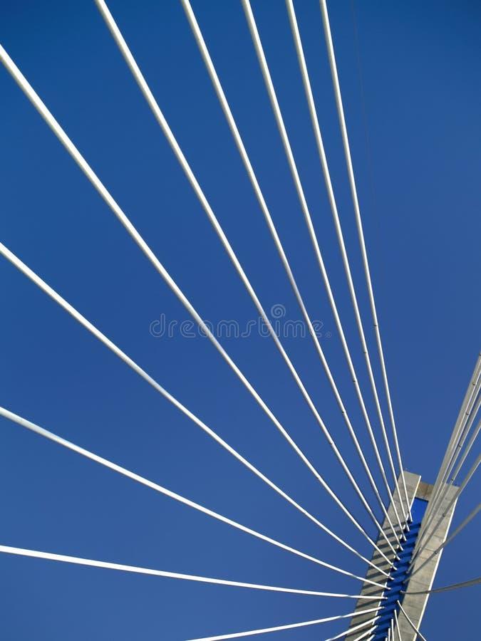 Multi-spanwijdte kabel-verblijf brug van Rio - Antirio, Griekenland royalty-vrije stock afbeelding