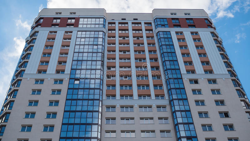 Multi-storey building. New apartments for sale. New apartments for sale . Multi-storey building royalty free stock photo