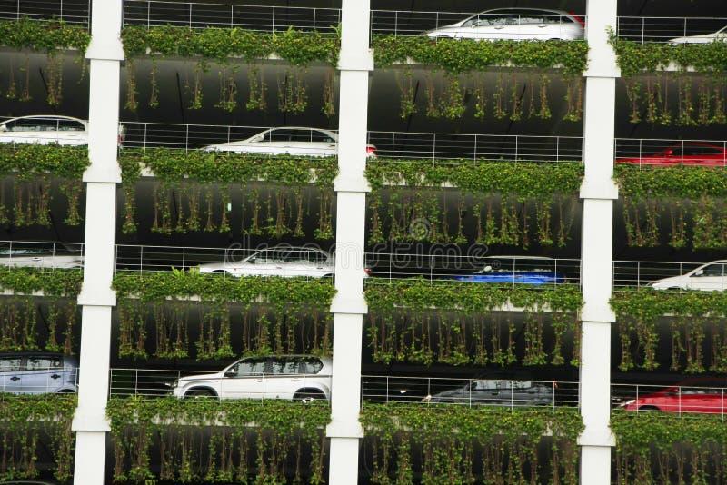 Multi-storey car parking garage, Bandar Seri Begaw. An, Brunei, Southeast Asia royalty free stock photography