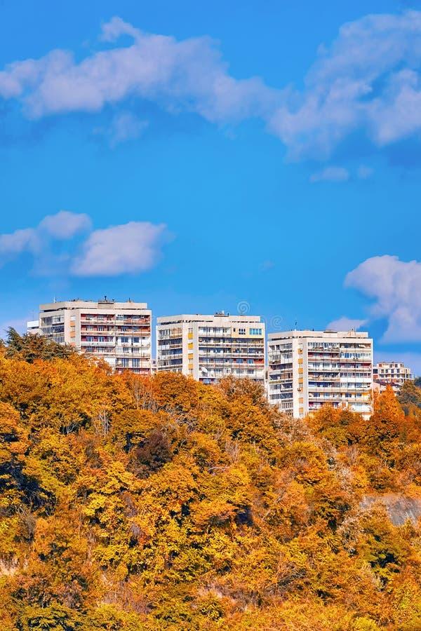 Multi-storey houses of Varna. Bulgaria royalty free stock photo