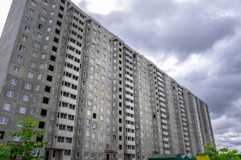 Multi storey residential building being built in Minsk. Multi storey residential building being built in Minsk, Belarus royalty free stock photo