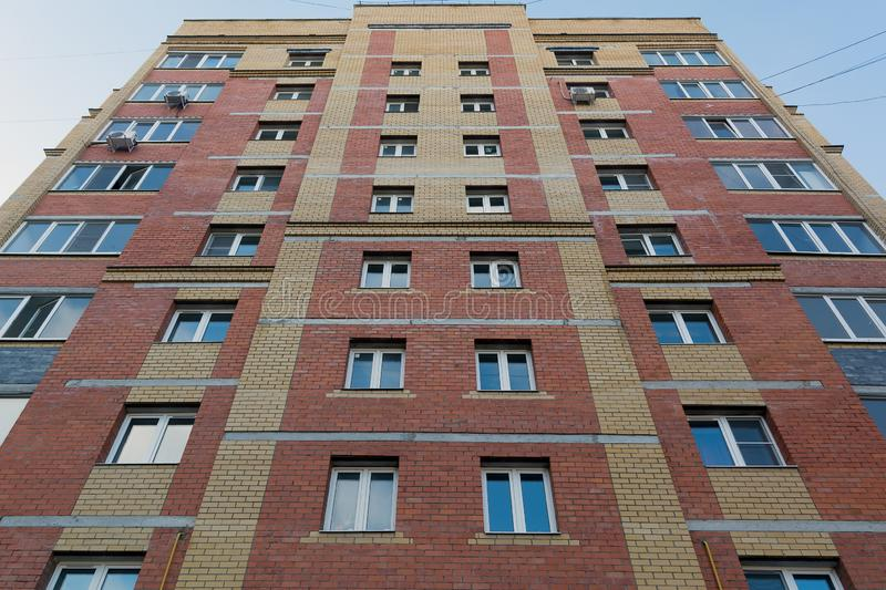 Multi-storey residential building. Made of concrete royalty free stock photos