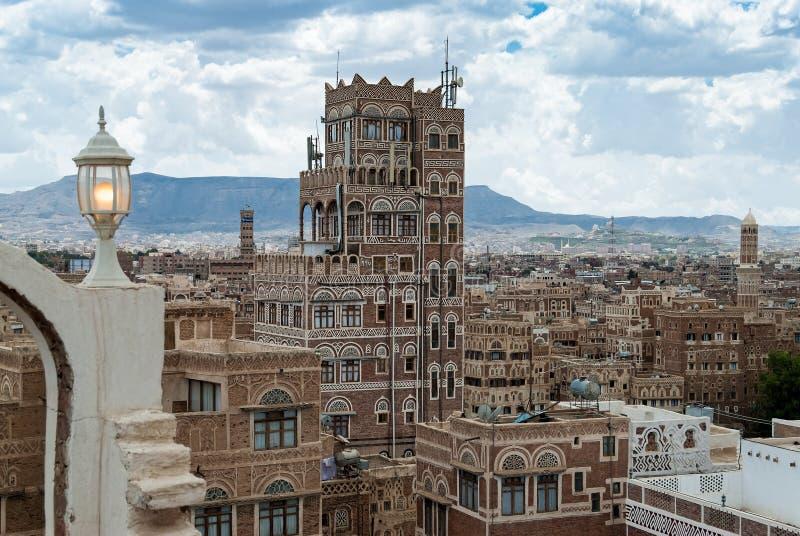 Buildings in Yemen stock photo