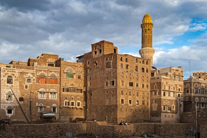 Buildings in Yemen royalty free stock photo