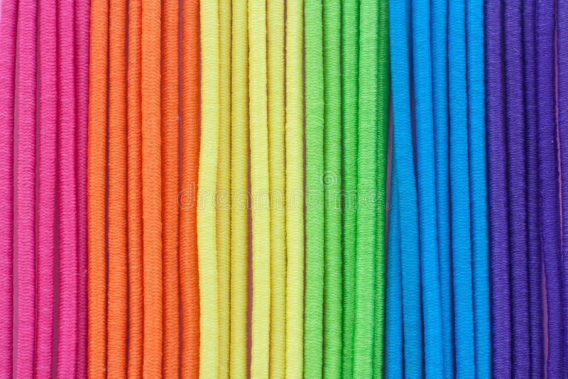 Multi strisce della tessile di colore fotografie stock libere da diritti