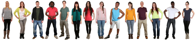 Multi suplente étnico multicultural feliz de sorriso do grupo de pessoas imagens de stock royalty free