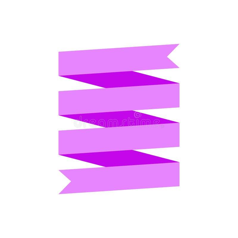Multi-tier ribbon banner in flat design. Vector multi-tier ribbon banner in flat design royalty free illustration