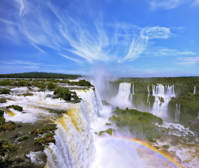 Multi-tiered cascades of water royalty free stock photos
