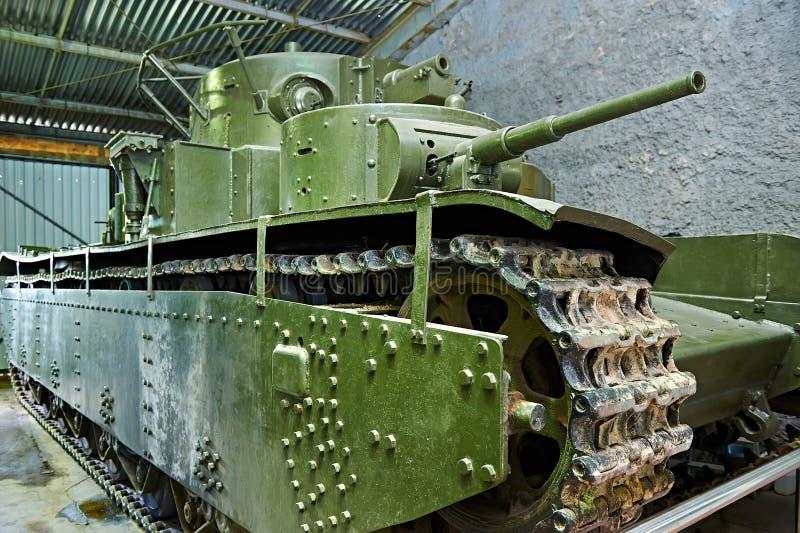 Multi-turreted tanque pesado soviético T-35 1935 fotografia de stock royalty free