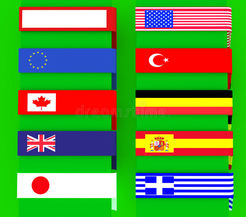 Download Multi-use Signs With Banners, Borders Stock Image - Image of america, greece: 28743145