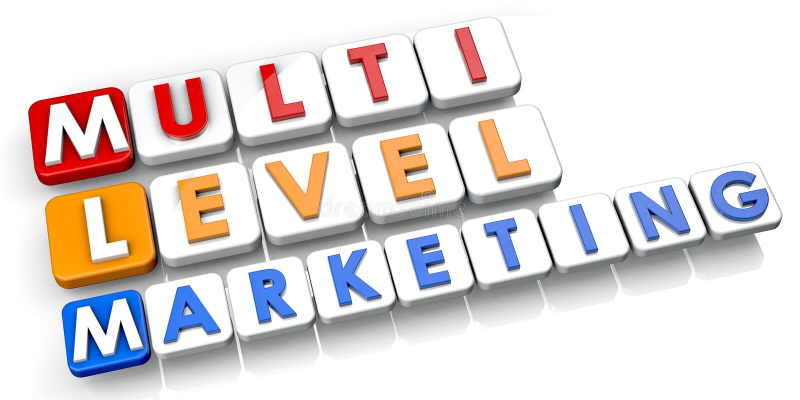 Multi waagerecht ausgerichtetes Marketing lizenzfreie abbildung