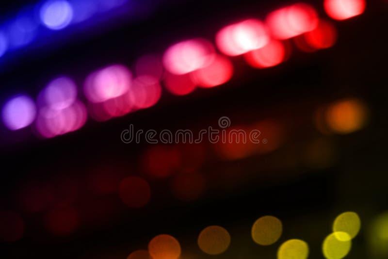 Multi Zusammenfassung Lichteffekte Bewegung Farbbunt auf schwarzem Hintergrund für Dekorationsgrafikdesign, Nachtbeleuchtung stockbilder