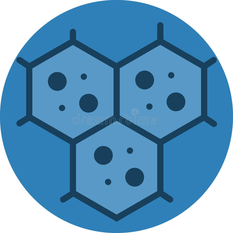 Multicellular Cell Structure Icon. Vector Icon for multicellular microscopic view vector illustration