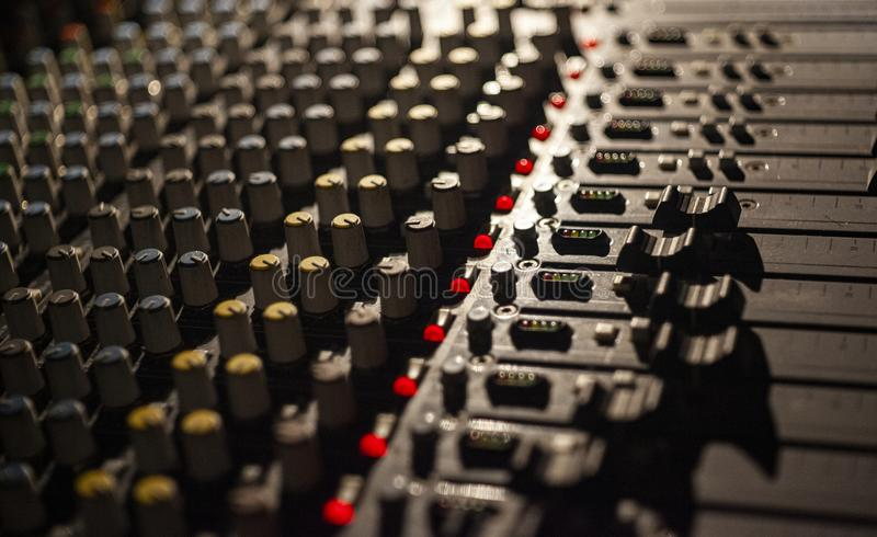 Multichannel audio mixer 3 royalty free stock image