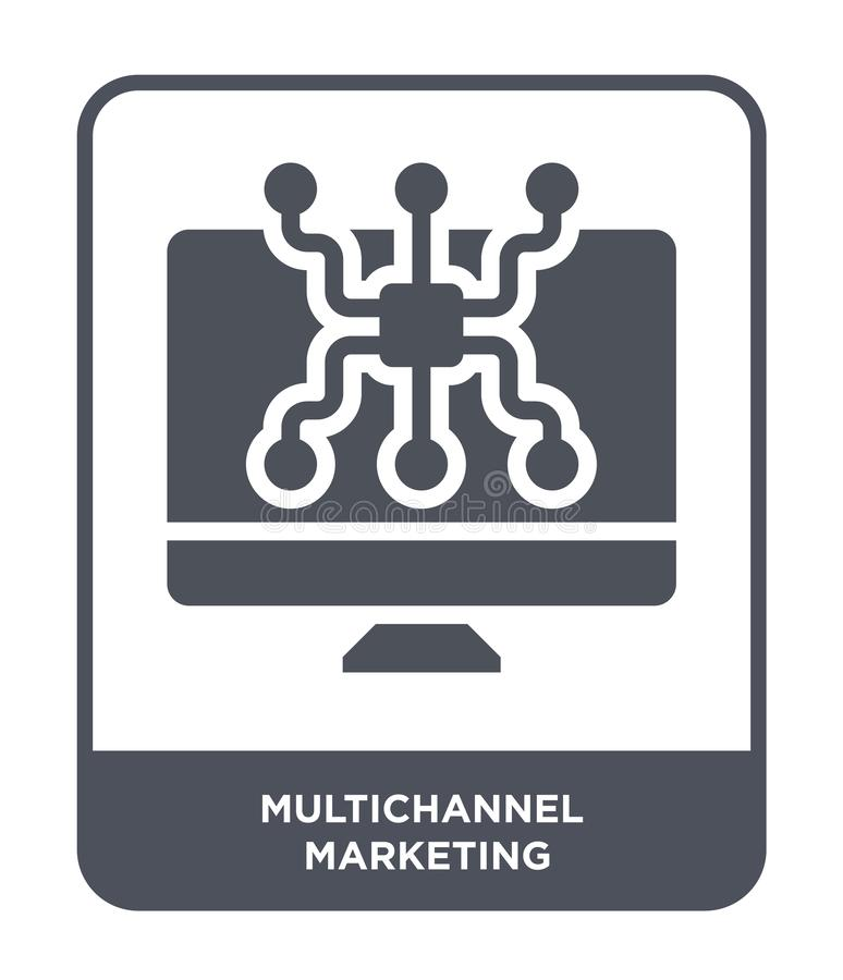 Multichannel marketing icon in trendy design style. multichannel marketing icon isolated on white background. multichannel. Marketing vector icon simple and royalty free illustration