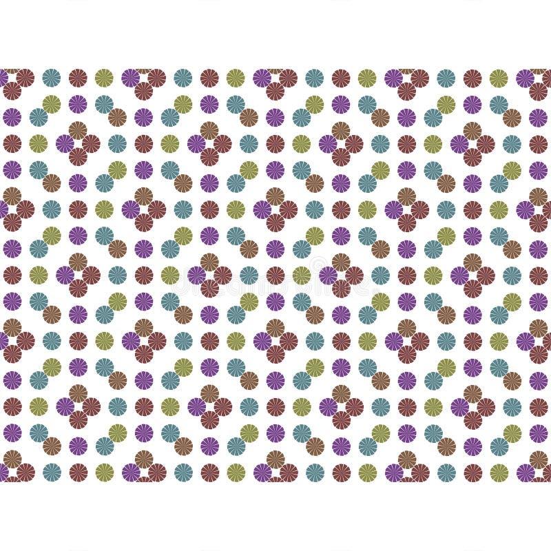 Multicoloed circonda il modello geometrico illustrazione di stock
