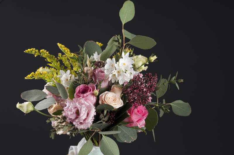 Multicolor букет цветка стоковая фотография rf