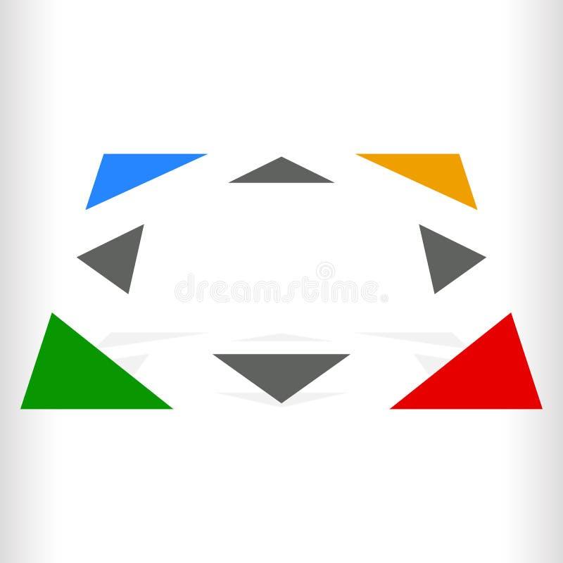 Download Multicolor геометрический значок, логотип для родового навигации, Trans Иллюстрация вектора - иллюстрации насчитывающей индикация, логос: 81812805