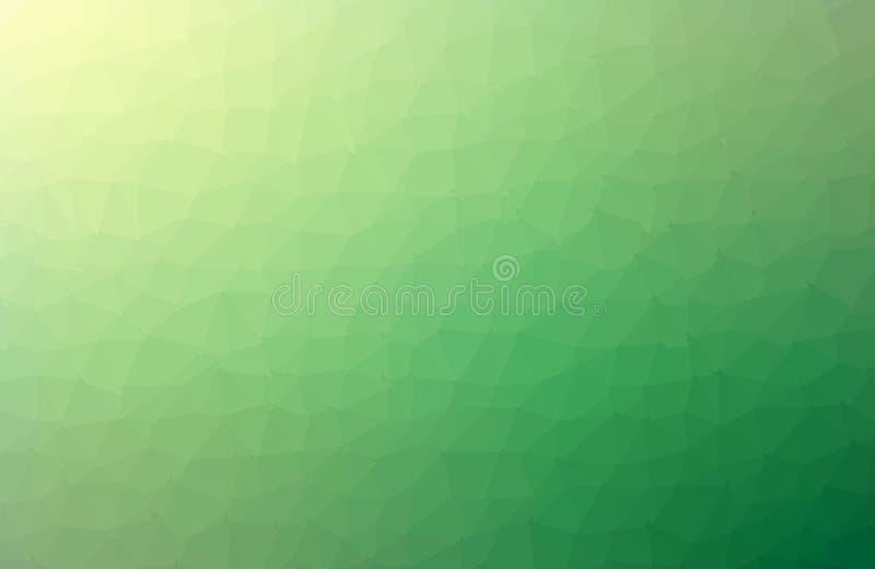 Multicolor зеленая, желтая, оранжевая полигональная иллюстрация, которая состоит из треугольников Геометрическая предпосылка в ст иллюстрация штока