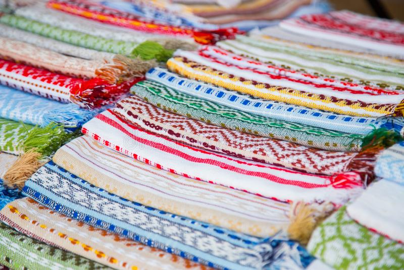 Multicolor полотенца хлопка стоковое фото rf