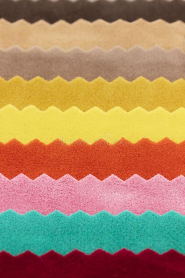 Multicolor предпосылки ткани войлока стоковое фото